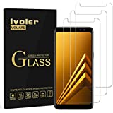 ivoler [3 Unidades] Protector de Pantalla Compatible con Samsung Galaxy A8 2018, Cristal Vidrio Templado Premium [Dureza 9H]