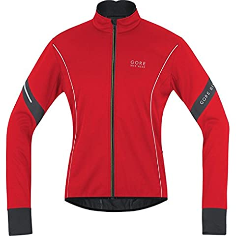 GORE BIKE WEAR Giacca Uomo Power 2.0 Soft Shell - Rosso (Red/black) - M