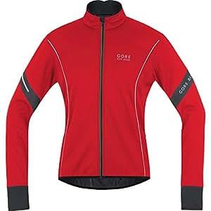 GORE BIKE WEAR Herren Warme Fleece Soft Shell Rennrad-Jacke, GORE WINDSTOPPER, POWER 2.0 WS SO, Größe: M, Rot/Schwarz, JWMPOW
