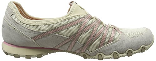 Skechers Bikers - Hot-ticket, Damen Ausbilder, Beige (Natural/taupe), 39.5 EU - 6