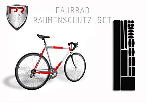 Rahmenschutz Lackschutz Set für Fahrrad Bike BMX MTB (Bogen Klein 293 x 162 mm) SCHWARZ
