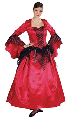 M210141-XS rot-schwarz Damen Teufelkleid Gothickleid Gr.XS