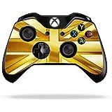 Stillshine Vinyle Decal Skin Sticker de Protection pour Xbox One télécommande Manette x 2 (Gold Union Jack)