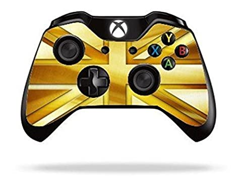 Stillshine Vinyle Decal Skin Sticker de Protection pour Xbox One télécommande Manette x 2 (Gold Union Jack)