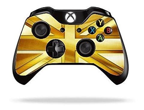 Stillshine Vinyl Wrap skin sticker for Microsoft Xbox One Controller Gamepad x 2 (Gold Union Jack)