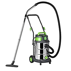 Vacmaster Quiet 30, Stainless Steel, auto on/off wet and dry vacuum cleaner, 1500W, 30L, Quiet & Professional