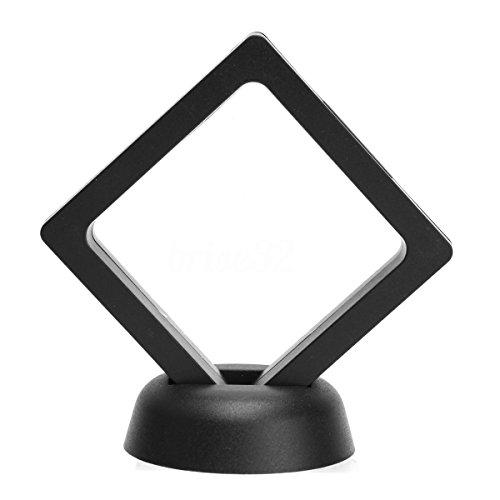 TOOGOO Quadratischer 3D Alben Schwimmender Rahmen Halter Muenze Box Schmuck Display Auslage, 9X9 cm (mit Basis) -