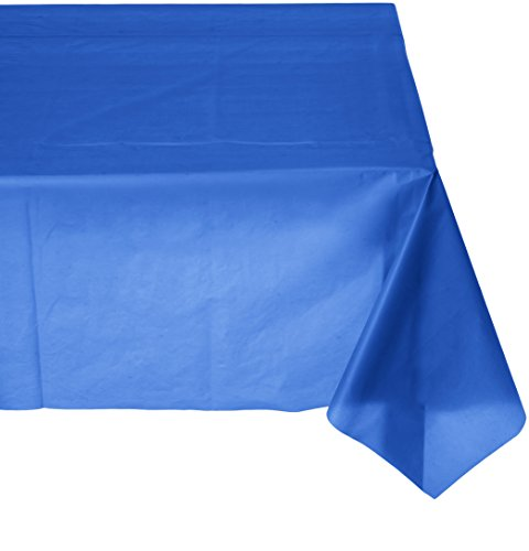 Amscan Reusable Plain Round Childrens Party Tablecovers , Bright Royal Blue, 12 Pieces