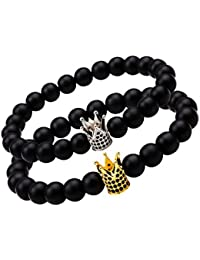 Young & Forever Black Metal Bracelet for Men and Women