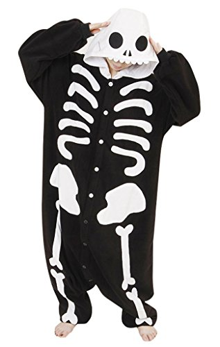 Gillbro Anime adulto animale Cosplay Pigiama, scheletro, L