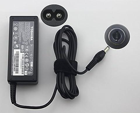 WishingDeals AC Adapter für Toshiba PA3917U-1ACA 65W 2-Pin 19V 3.42A Kompatible P/N:G71C000DP410 G71C000DM410