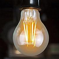 LED Filament, E27, Edison-Glühbirne, E27Vintage Leuchtmittel, 4W 6W 8W Glas Leuchtmittel (4W Warmweiß, warm weiß 4W)