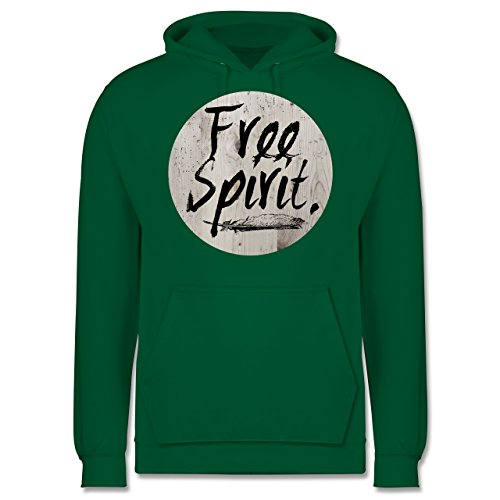 Statement Shirts - Free Spirit - Männer Premium Kapuzenpullover / Hoodie Grün
