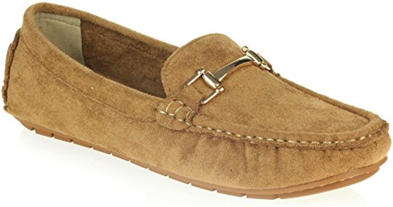 AARZ LONDON Frau Damen Komfort Büroarbeit Loafer Mokassins Geschlossene Zehe Flach Schlüpfen Schuhe Größe