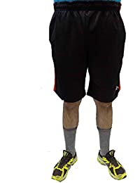 Acetone Solid Men's Running Shorts(USH2 - Black)
