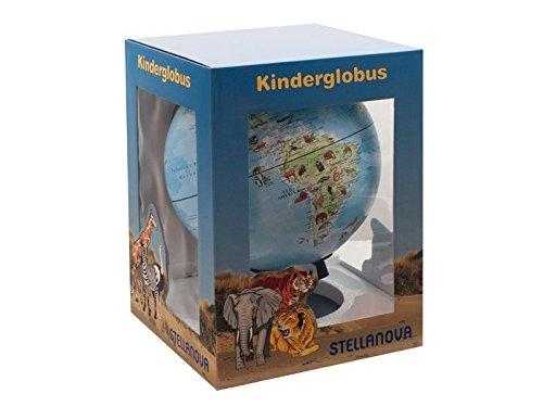 28 cm Kinder-Globus Stellanova`s Welt der Tiere: Kinder Leuchtglobus, mit Tierlexikon, beleuchtet