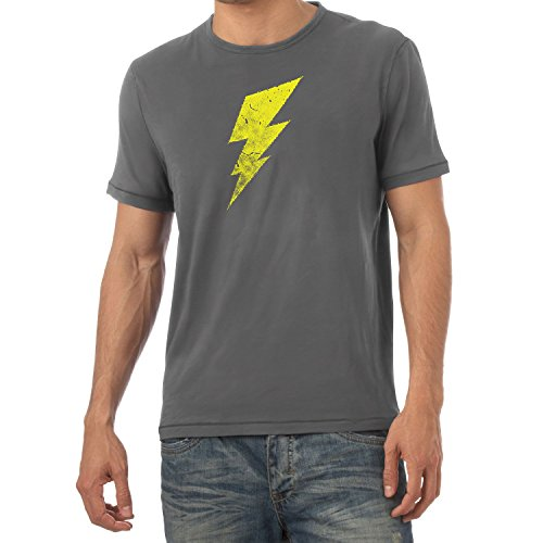 Flash - Herren T-Shirt, Größe XL, Grau (Grau Iron Man Kostüm)