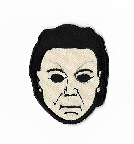 Michael Myers Patch Nähen oder Bügeln bestickt auf Badge DIY Aufnäher Halloween Horror Film Souvenir Slasher DIY Kostüm (Slasher Kostüm)