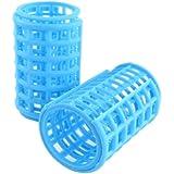 10 Pcs Blue Plastic Diy Roller Curlers Hair Curling Tool