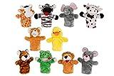 10 süsse Handpuppen Kasperpuppen Tiere Kuscheltier Kaspertheaterpuppen Plüsch Puppe Kasperlepuppen