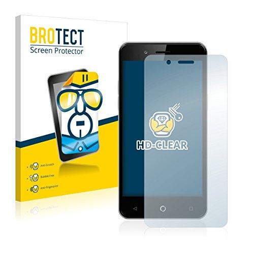 2X BROTECT HD Clear Bildschirmschutz Schutzfolie für Allview P6 Pro (kristallklar, extrem Kratzfest, schmutzabweisend)