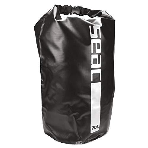 Seac dry bag sacca stagna impermeabile per subacquea e nautica nero 20 litri