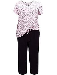1fbd642da6d Ex Evans Ladies Floral Pyjama Set Womens PJS Nightwear Lounge Plus Size