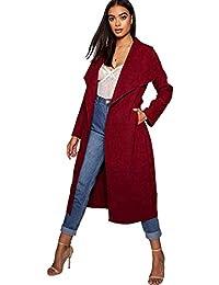 87c393f53a Amazon.it: spolverino donna - Rosso / Cappotti / Giacche e cappotti ...