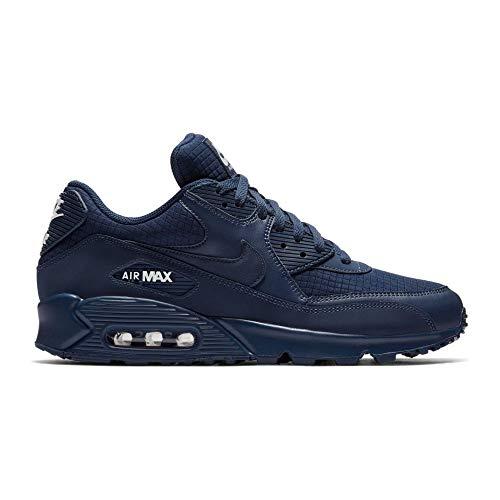Nike Air Max 90 Essential, Scarpe da Ginnastica Uomo, Blu (Midnight Navy/White...