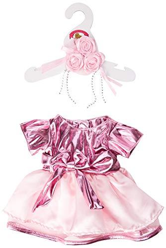 Baue Dein Bears Kleiderschrank 15Zoll Kleider passen Bj Bär Metallic Kleid und Blumen (Pink)