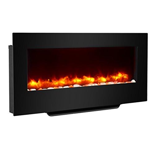 Crown Flamme EF111EN - Radiador plano para chimenea y pared (38 pulgadas,...