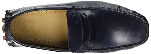 Base London Morgan, Mocassins homme Bleu (Washed Navy)