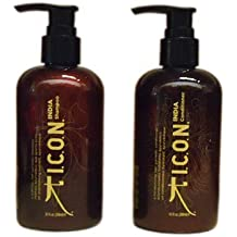 ICON India Shampoo + Conditioner 8.5 fl oz Combo Set by Vidimear by Vidimear