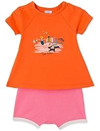 Petit Bateau Baby-Mädchen Bekleidungsset Ensemble 2p T-Shirt Mc + Short_23918