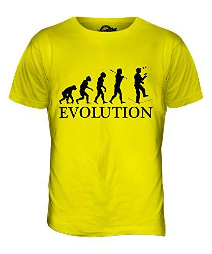 CandyMix Seiltanz Zirkus Evolution Des Menschen Herren T Shirt Zitronengelb