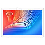Cyber Monday Angebote,Teclast T20 4G LTE Tablet PC Network Fingerprint Locking MT6797 X27 Deca Core 64G ROM 4G RAM Dual WiFi 13.0MP 10.1 Inch GPS (Silber)