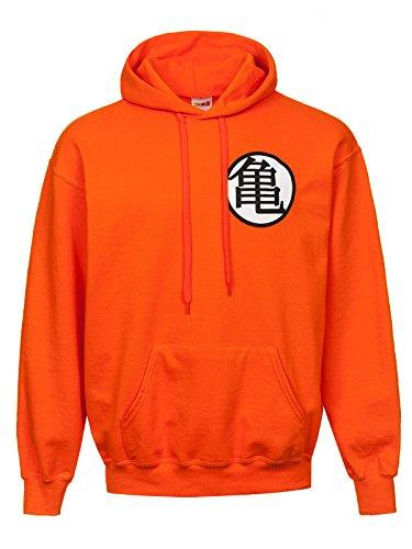 Dragón ball Sudadera con capucha Naranja L