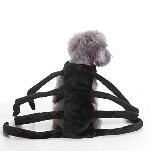 LXLP Funny Hund Kleidung Pet Puppy Dogs Weihnachten Kleidung Spider Style Kostüm Outfit Apparel bis Halloween Dekoration Pet Supplies, Mdeium, - Spider Dog Kostüm