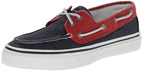 Sperry Bahama 2eye, Chaussures voile homme bleu marine/rouge