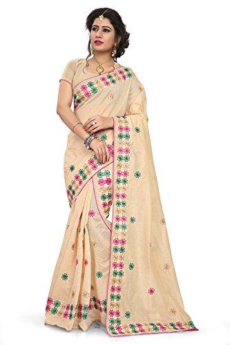 S. Kiran's Women's Khadi Cotton Chiku Mekhela Chador - Mekhla Chadar - Dn. 8138