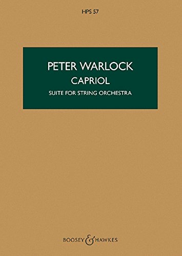 Capriol: Suite. Streichorchester. Studienpartitur. (Hawkes Pocket Scores) -