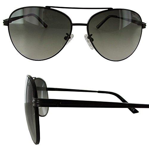Timberland Mens TB7132 Wire Rim Aviator Fashion Sunglasses Black