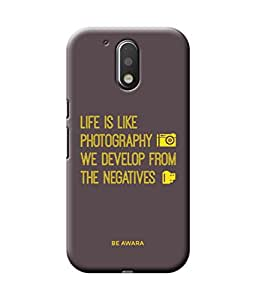 Be Awara Life Is Photography Back Cover Case for Moto G4 Plus