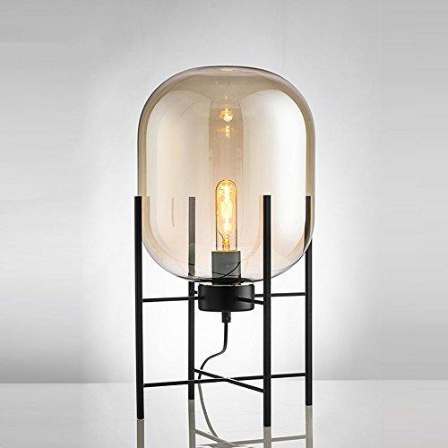 Preisvergleich Produktbild WSXXN Postmodern minimalistischen Nachttisch Schreibtischlampe handgemachte Glas warme Farbe Lampe Persönlichkeit Design kreative Boden vertikale Tischlampe ( Farbe : Gelb )