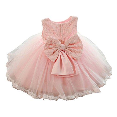 Baby Mädchen kleid - Prinzessin Bowknot Sequins Tüll Kleid Kurze Ärmel Hochzeit Festlich...
