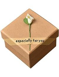 EOZY Boîte à Bijoux Collier Box Bague Présentoir Coffret Cadeau Organisateur Boucle d'Oreille Kaki