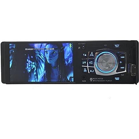 Eaglerich 4.1 pollici grande schermo TFT HD Autoradio lettore audio USB SD Aux in 1080p Movie Radio w / remote di controllo Supporto telecamera posteriore.