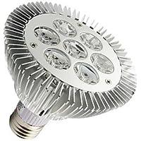 7W E26/E27 Riflettori PAR30 7 LED ad alta intesità 630-680
