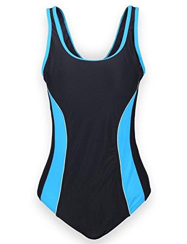 Aidonger Damen Verbindung Farben Badeanzug Knalliger Farbe Wettkampfanzug 1 Piece EU36-EU50