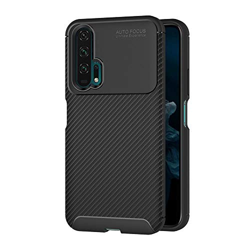 aicek cover compatible honor 20 pro, nero custodia honor 20 pro silicone molle black cover per huawei honor 20 pro soft tpu case (6.26 pollici)